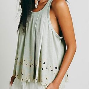 Free People Attina Scalloped Tank